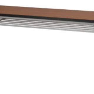 長机、イス、冷蔵庫、電子レンジ