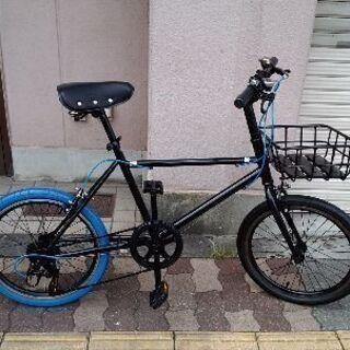 20吋 スポーツミニベロ(小径車)  7speed/ブラック