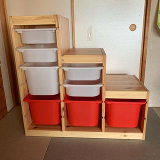 美品 IKEA イケア トロファスト 収納 棚 シェルフ