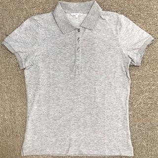 【ユニクロ】ポロシャツ/杢グレー/レディースL