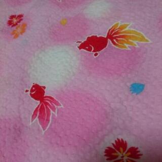 ①子供用浴衣 ピンクの金魚柄 約120㎝