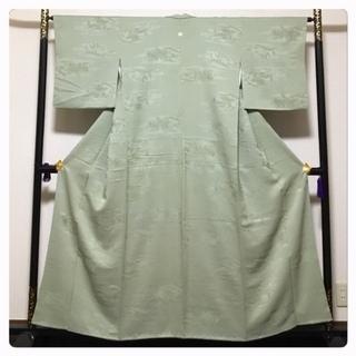 ゆったりサイズ 身丈156 裄65 極上 高級呉服 膨れ地紋 ...