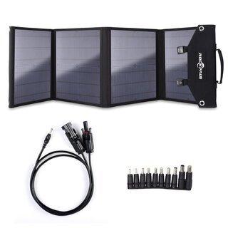 ソーラーパネル 100W QC3.0 変換プラグ10枚搭載 高変...