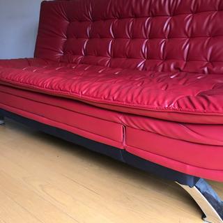ソファベッド  リクライニング式  訳あり家具
