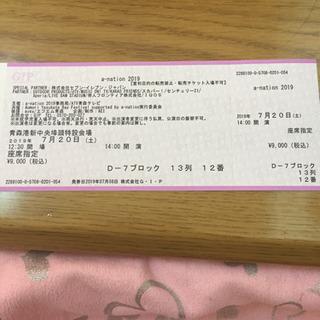 a-nation ライブチケット 青森港 【最終値下げ】