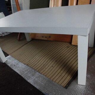 白合板テーブル