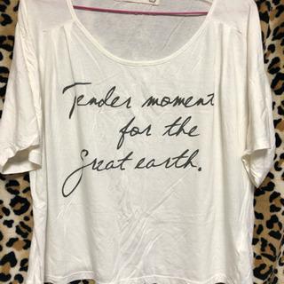 ホワイト半袖Tシャツ  フリーサイズ