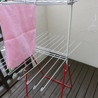 引き取り希望★タオル40枚 折りたたみ可能 洗濯物干し室内干しに最適
