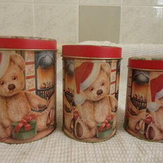 クリスマス缶 大・中・小