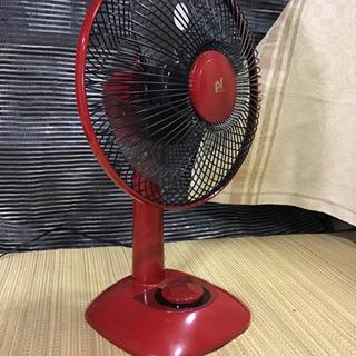 中古 コンパクト扇風機 レッド