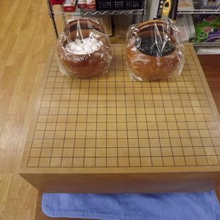 囲碁セット 碁盤:5.7寸 碁石:本蛤×177 那智黒:181 ...