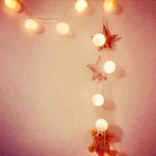 美品*LEDコットンボールライト