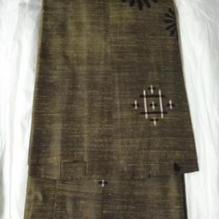 紬コート 絹