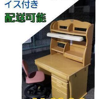 値引 ¥6800 → ¥5800 くろがね 【学習机】 袖 椅子付...
