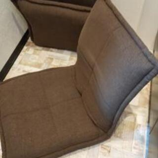 【激安美品】早い者勝ち 座椅子×2 茶色