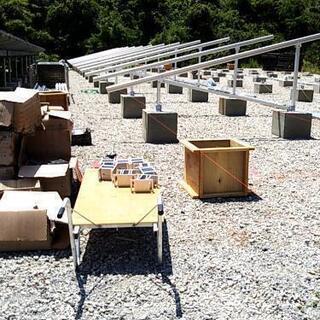 太陽光発電所下手間作業