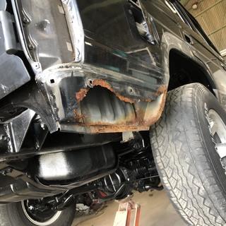 ランクルなどの車の #腐食補修 #鉄板溶接 #塗装修理 (旧車・...