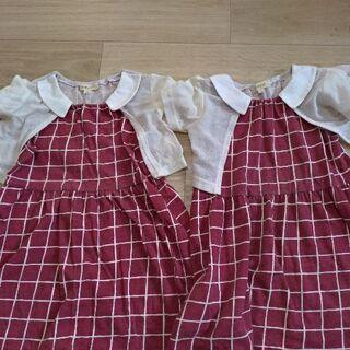 女の子 100 ワンピース 双子