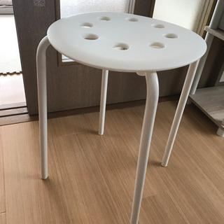 IKEA MARIUS 組み立て簡単 説明書付き 椅子 白