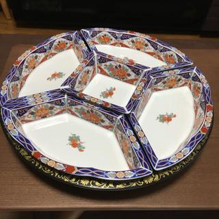陶器  新品 回転式 オードブル皿 手巻き寿司にも