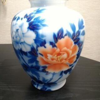 深川製磁 牡丹花瓶