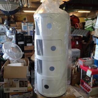 4段円柱形収納ボックス