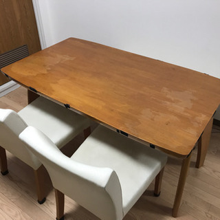 ダイニングテーブル&ベンチソファ、チェアセット