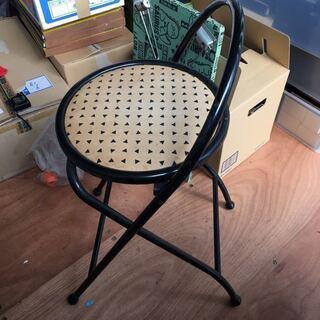 折りたたみ イス 椅子 座面高約60センチの画像