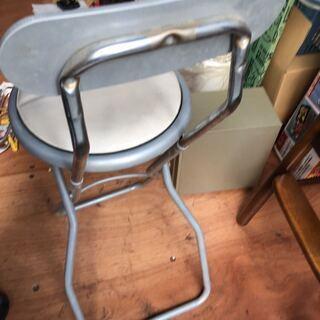 折りたたみ イス 椅子 足場 踏み台 白 座面高約80センチ - 家具