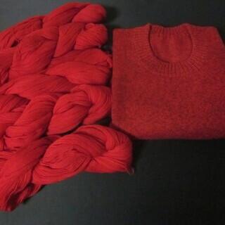 毛糸 赤系