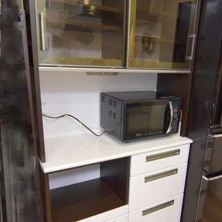 日本製・食器棚/キッチンボード/レンジ台・幅100cm