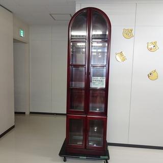半円ガラス扉飾り棚(上下)(R107-03)