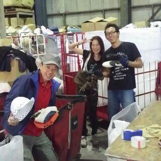 大手リサイクルショップ古着の仕分け業務
