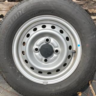 軽箱バン用タイヤ未使用ホイル付1本のみ