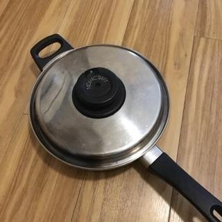 0円 ステンレス鍋(無水鍋)