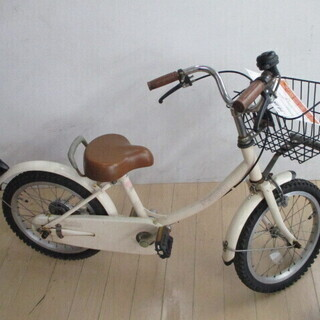 【エコプラス小倉南店】子供用自転車  ベージュ 16インチ サイ...
