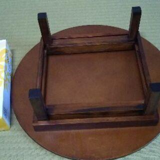 木製の折り畳み式丸台 - 生活雑貨