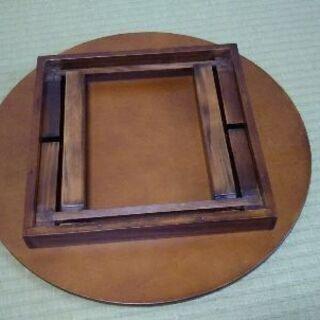 木製の折り畳み式丸台 − 兵庫県