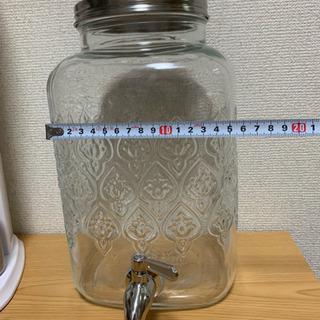 ステンレスジャグチ付きおしゃれガラス瓶 新品未使用