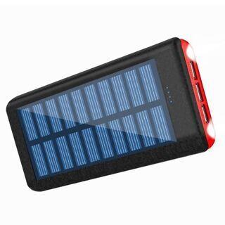 ソーラーチャージャー モバイルバッテリー 大容量 PSE認証済 ...