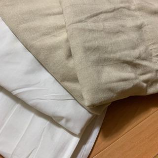 【本日中にご連絡を!】IKEA カーテンセット  ベージュと白③...