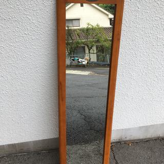 カントリー調 姿見 木製 鏡 ミラー