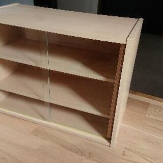 ミニ食器棚 幅60cm キッチン収納 ガラス 引き戸