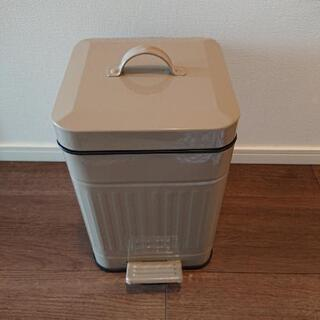 スチール製ゴミ箱 スクエア×ブラウン 小サイズ
