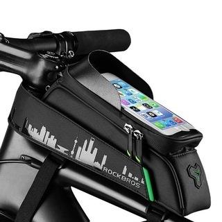 【新品・未使用】自転車トップチューブバッグ フレームバッグ 自転車...