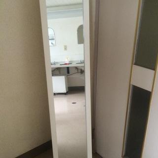 大きな鏡 白枠 おしゃれ 全身鏡