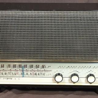 真空管ラジオ ナショナル HiFi 2BAND ラジオ 木製キ...