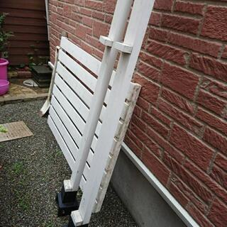 木製フェンス  ホワイト