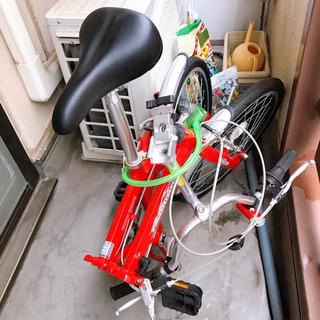CARIBOU 折り畳み自転車 軽量アルミフレーム 赤