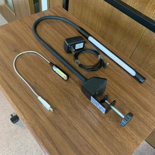 {商談中}LEDクランプライト+USBパソコンライト